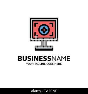 Brand, Branding, Design, Print Business Logo Template. Flat Color - Stock Photo