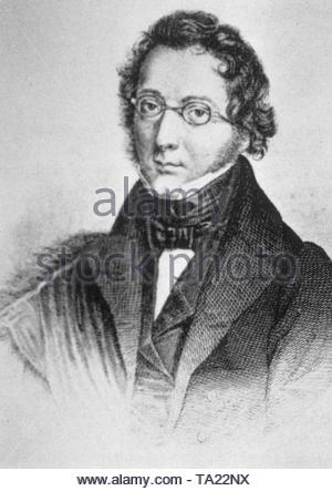 Ludwig Bechstein (1801-1860), German author and fairy tale collector. - Stock Photo