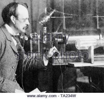 Joseph John Thomson (1856-1940), British physicist. In 1906 he received the Nobel Prize in Physics. - Stock Photo