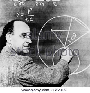 Enrico Fermi (1901-1954), Italian physicist. In 1938 he received the Nobel Prize in Chemistry. - Stock Photo