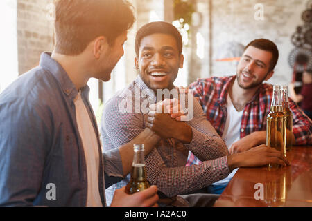 Old Friends Meeting. Mates Greeting Each Other