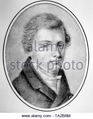 Wilhelm Hauff (1802-1827), German poet. - Stock Photo