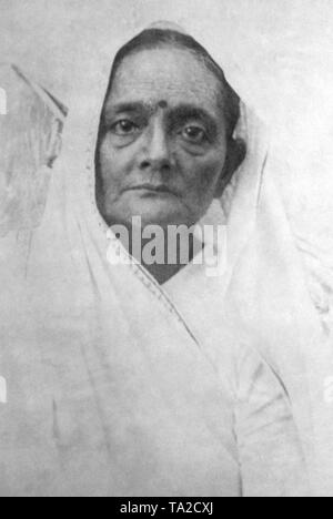 Kasturba Gandhi, Mahatma Gandhi's wife, will be attending the meeting of the International Women's League for Freedom in Dublin, Ireland. - Stock Photo