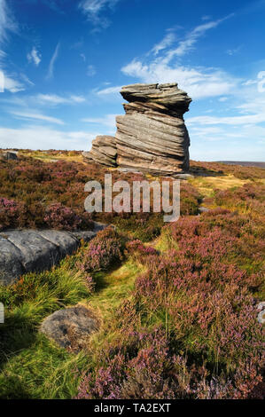 UK,South Yorkshire,Peak District,Near Hathersage,Mother Cap - Stock Photo