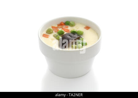 steamed beaten egg isolated in white background - Stock Photo