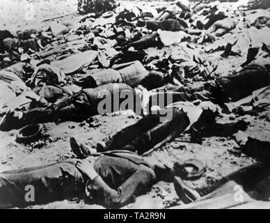 In the course of the successful Operation Anthropoid, it comes to retaliation against the Czech population. The Czech village Lidice is completely destroyed by the Wehrmacht on June 10, 1942. The men are shot dead, and the women and children are brought to concentration camps. - Stock Photo