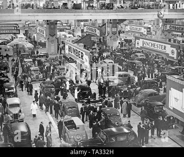 Stand of Humber at the Earl's Court Motor Show 1938. - Stock Photo
