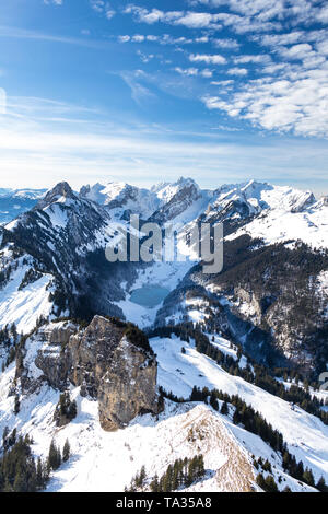 frozen lake in the mountains - Stock Photo