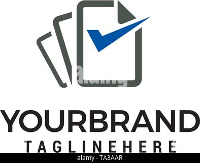 file Document check logo design concept template vector - Stock Photo