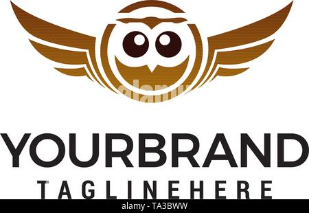 owl logo design concept template vector - Stock Photo