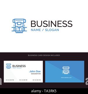 Box, Chamber, Cryogenic, Cryonics, Cryotherapy Blue Business logo and Business Card Template. Front and Back Design - Stock Photo