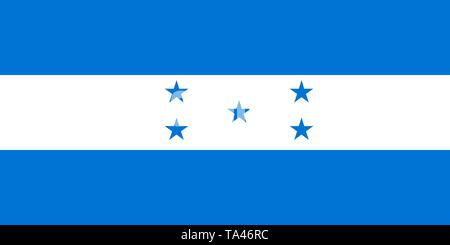 The national flag of Honduras. Vector illustration. Tegucigalpa - Stock Photo