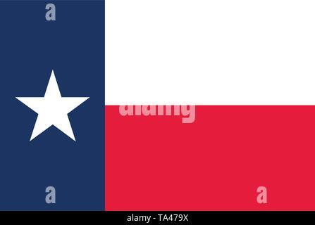 Texas state flag. Vector illustration - Stock Photo