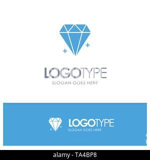 Diamond, Ecommerce, Jewelry, Jewel Blue Logo vector - Stock Photo