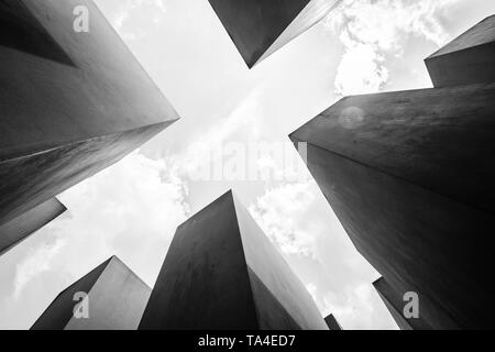Berlin, Germany - May,  2019:  The Memorial to the murdered jews, a.k.a. the Holocaust memorial in Berlin, Germany - Stock Photo
