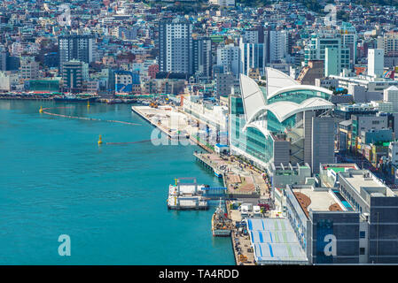 busan harbor,  the largest port in South Korea - Stock Photo