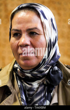Latifa Ibn Ziaten, founder of IMAD association for Youth and Peace, portrayed in Lyon, France - Stock Photo
