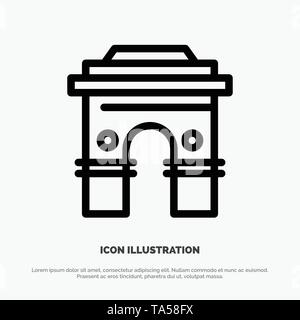 Culture, Global, Hinduism, India, Indian, Srilanka, Temple Line Icon Vector - Stock Photo