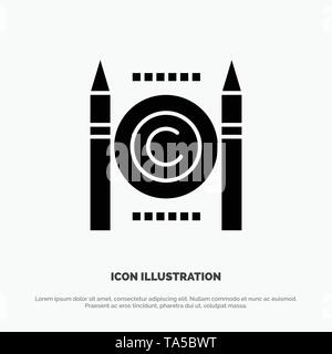 Business, Conflict, Copyright, Digital solid Glyph Icon vector - Stock Photo