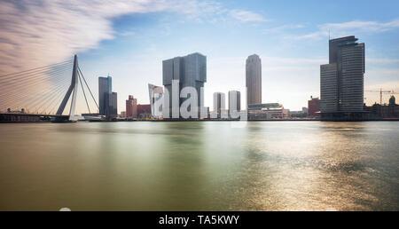 Rotterdam Skyline, Netherlands. - Stock Photo