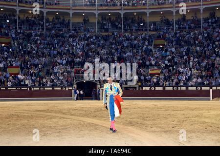 Spanish bullfighter Manuel Jesus 'El Cid' during the San Isidro Fair at Las Ventas bullring in Madrid, Spain, 22 May 2019. EFE/ JuanJo Guillen - Stock Photo