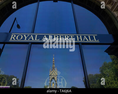 LONDON, UK- 13 may 2019: Exterieur of the Royal Albert Hall, a world famous music venue and London landmark - Stock Photo