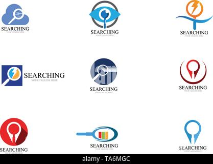 Search logo and symbol template vector - Stock Photo