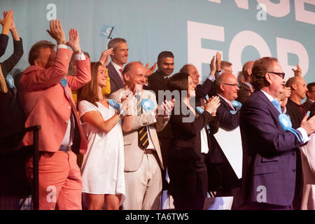 Brexit MEP Candidates, on stage during a Rally at Olympia, London - Stock Photo