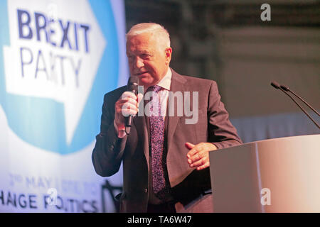 Václav Klaus  2nd President of the Czech Republic, speaking in support of the Brexit Party, during a political Rally at Olympia, London - Stock Photo