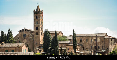 Siena panoramic skyline with the  campanile tower of the Basilica of  San Clemente in Santa Maria dei Servi, a   Romanesque style, Roman Catholic chur - Stock Photo