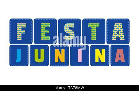 Festa Unina decorative flat signboard - Stock Photo
