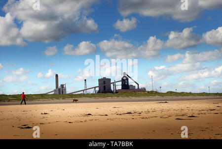 Redcar steelworks, Cleveland, England, Britain - Stock Photo