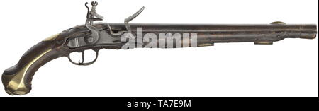 Small arms, pistols, cavalry flintlock pistol M 1731, calibre 16,5 mm, Prussia, Editorial-Use-Only - Stock Photo