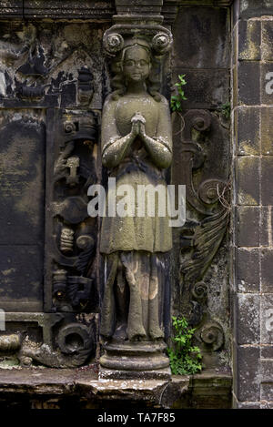 Detail from the 17th century Kincaid monument in Greyfriars Kirkyard, Edinburgh, Scotland, UK. - Stock Photo