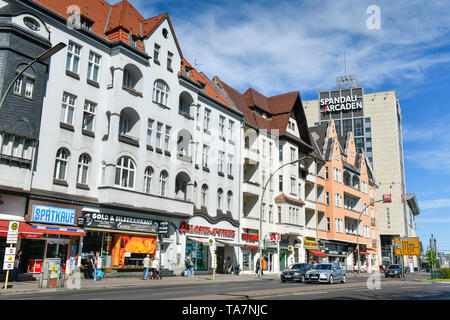 Old buildings, Spandau-Arcaden, Klosterstrasse, Spandau, Berlin, Germany, Altbauten, Deutschland - Stock Photo