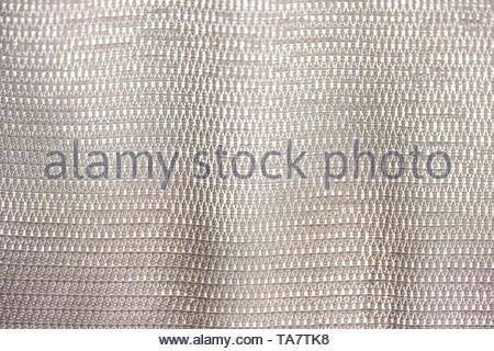 Drown background of fabric weaving cotton threads close-up macro shot - Stock Photo