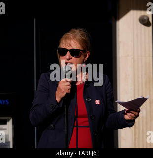 Exeter, UK. 22nd May, 2019. Labour Party rally in Bedford Street. Councillor Yvonne Atkinson Labour MEP candidate. Credit: Anthony Collins/Alamy Live News - Stock Photo