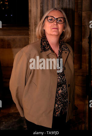 Exeter, UK. 22nd May, 2019. Liz Sewell, Change UK, MEP candidate, Hustings at Exeter Cathedral. Credit: Anthony Collins/Alamy Live News - Stock Photo