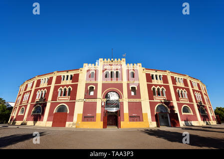 The Plaza de Toros (bullfighting ring) de Merida, Spain - Stock Photo