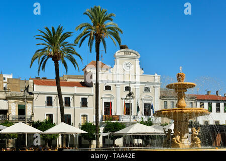 Ayuntamiento (Town Hall) in Plaza de Espana. Merida, Spain - Stock Photo