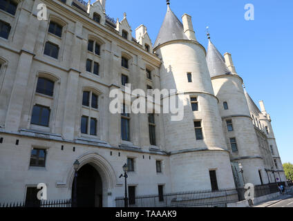 Conciergerie is a building in Paris France  located on the west of the Island of the City also Ile de la Cite used as prison - Stock Photo