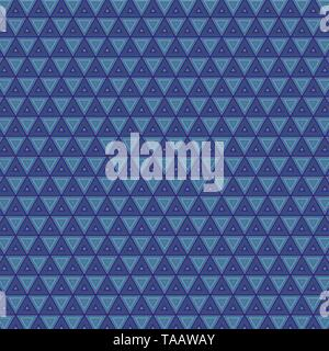 Abstract Geometric Blue Diamond TileTriangle Retro Seamless Pattern Texture Background Quality Gradient  Color Style. Fine Textile Fabric Background - Stock Photo