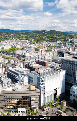 Aerial View over Kyoto Japan - Stock Photo