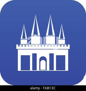 Kingdom palace icon digital blue - Stock Photo
