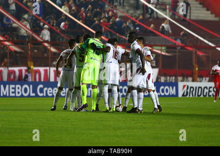 BUENOS AIRES, 23.05.2019: Team of Tolima during the match between Argentinos Juniors and Deportes Tolima for the 2nd round of Conmebol Sudamericana Cu - Stock Photo