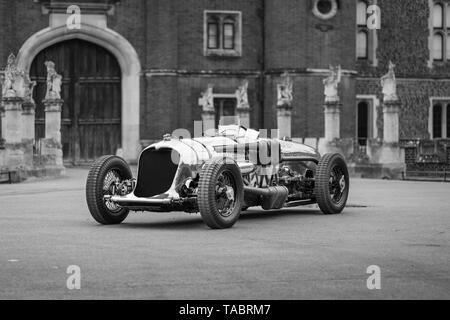 Napier Railton racing car at Hampton Court Palace - Stock Photo