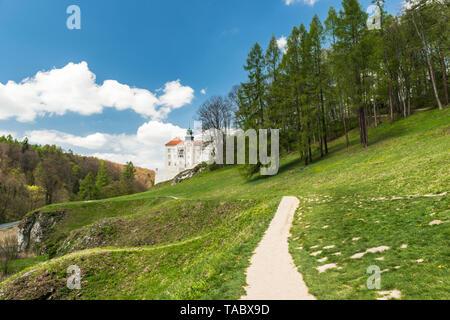 Historic castle Pieskowa Skala in Ojcow National Park near Krakow in Poland - Stock Photo