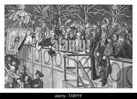 official gallery for the homage to Frederick William IV of Prussia in a public ceremony in Berlin october 15th 1840 - Stock Photo