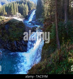 Austria, High Tauern National Park, Krimml waterfalls, Mid Falls - Stock Photo