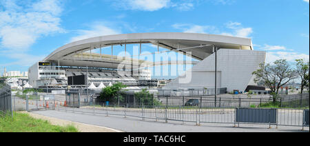 Sao Paulo SP, Brazil - March 07, 2019: Arena Corinthians stadium also known as Itaquerao, Itaquera district. Panoramic view of the stadium of Sport Cl - Stock Photo